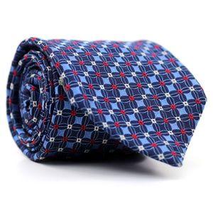 Daniel Cremieux 7 Fold Silk Tie Blue Geometric